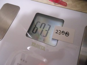 23日目の体重