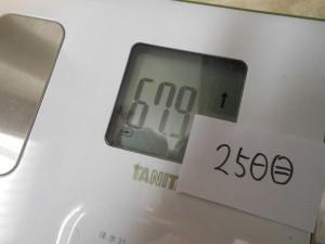 25日目の体重