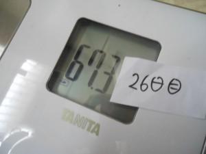 26日目の体重